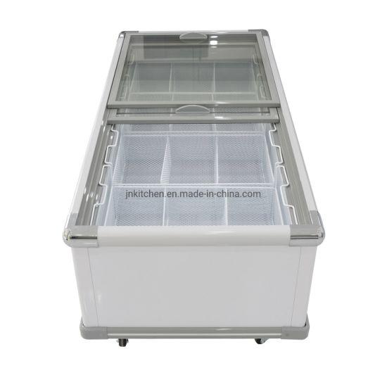 Deep Freezer Ice Cream Showcase Frezer Single Door Glass Quality Refrigerators for Sale