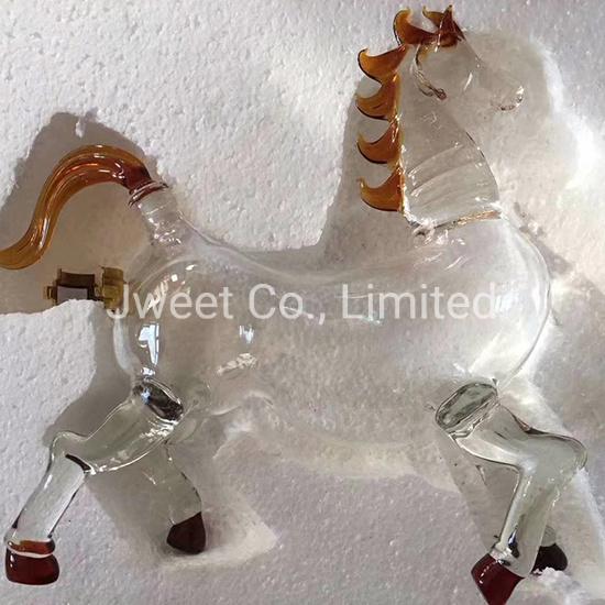 500ml Chinese Animal High Borosilicate Wine Glass Bottle for Brandy