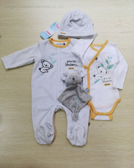 Wholesale Spring and Autumn Fashion Baby Crawl Four-Piece Suit, Children's Jumpsuits, Kid Clothing