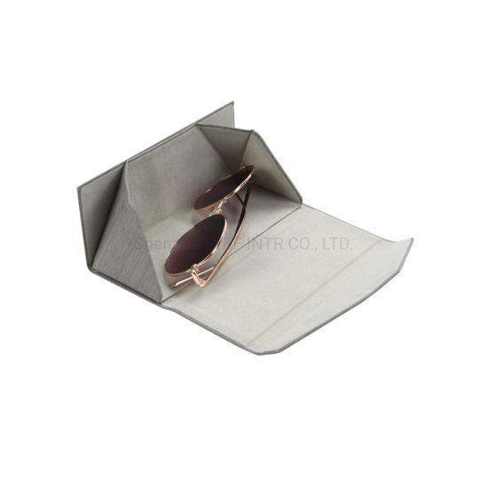 Wholesale Custom Logo Folding Glasses Case Custom Printing Logo PU Protective Sunglasses Case
