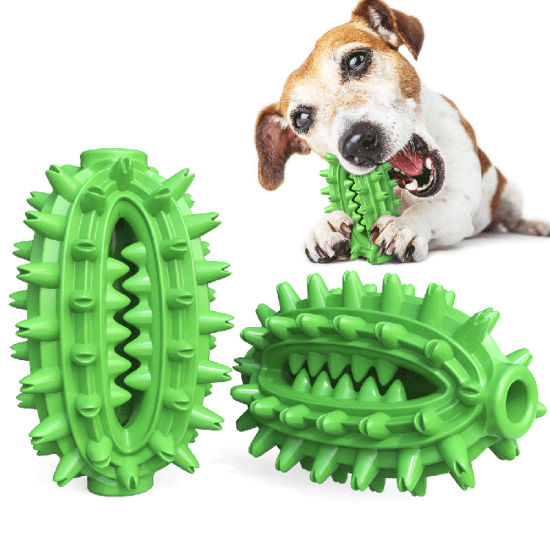 Rubber Chew Ball Cleaning Teeth Safe Elasticity TPR Soft Puppy Dog Toys Dog Toothbrush Toy Stick Cactus Shape