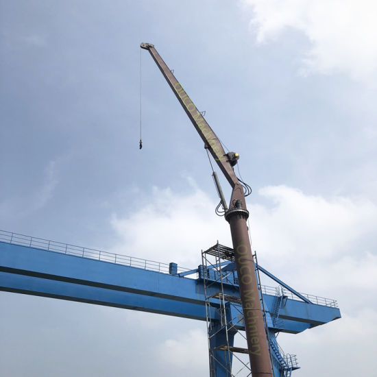 Marine Straight Boom Fixed Type Crane for Seaplane Pulling pictures & photos