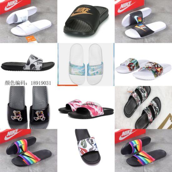 Benassi Jdi Print Black White Putian Summer Beach Flip Flops Sliders Slippers
