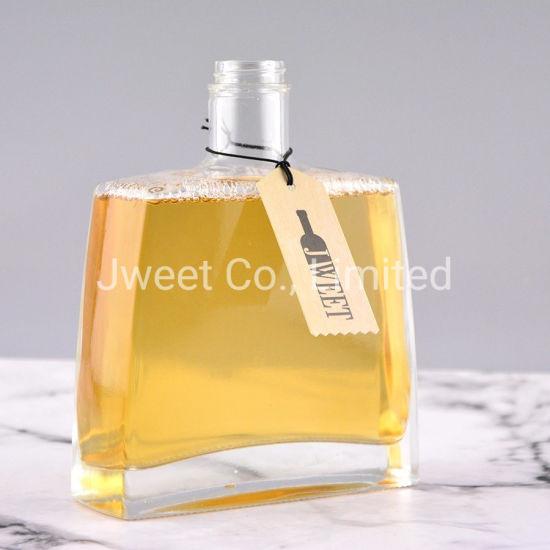Square 700ml 750ml 1L 1.75L Vodka Tequila Whiskey Whisky Brandy Rum Wine Glass Bottle