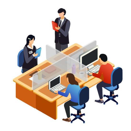 Hospital Desk Divider Office Room Virus Canteen Isolation Board