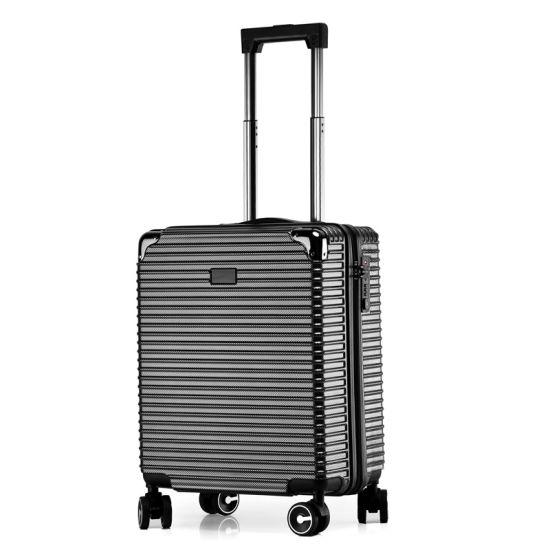 Custom Logo Aluminum Frame Boarding Suitcase Portable Trolley Travel Luggage