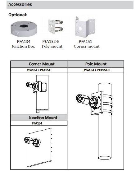 Dahua 4MP H.265 WDR IR POE IP67 Mini-Bullet Camera IPC-HFW1431S Web Viewer CMS