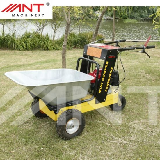 Ant Mini Dumper Power Barrow Wheel Barrow Gasoline Loader By150A pictures & photos