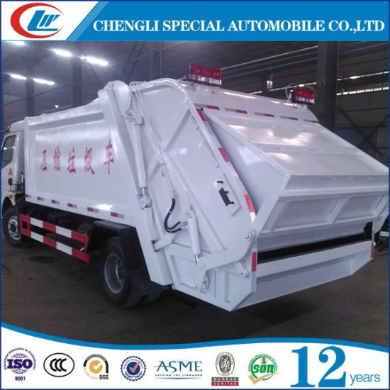 Small 4cbm 5cbm Compression Garbage Truck for Sale pictures & photos