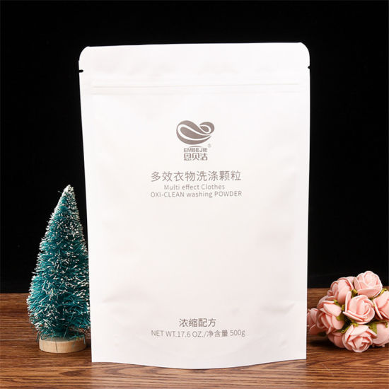 Stand up Plastic Bag with Zipper Custom Packaging Bags with Printed Logo for Washing Powder Packaging