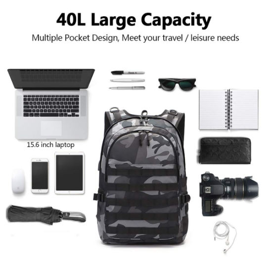 785c1fb3822 China College Laptop Backpack Pubg Level 3 Bag for Camping Hiking ...