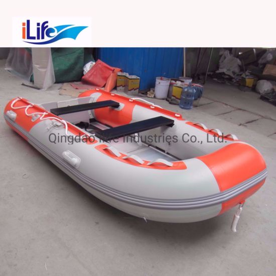 Ilife 3 3m Hot Sale Pvc Hypalon Inflatable Rescue Fishing Rubber Boat With Aluminum Drop Stitch Air Plywood Floor For Sale