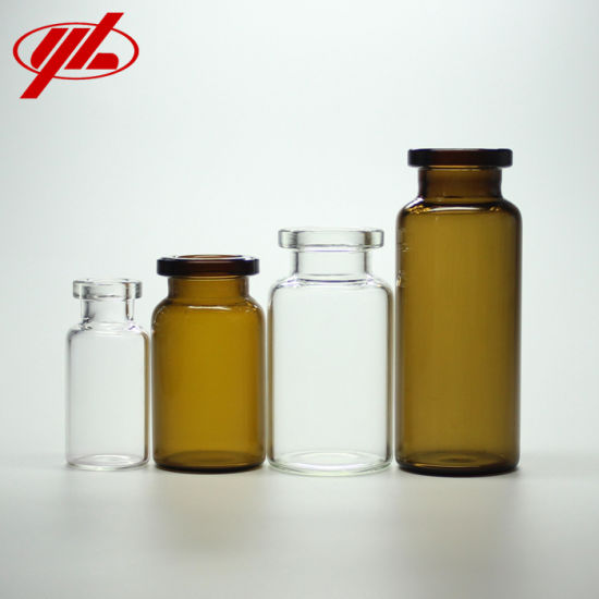 2ml 5ml 10ml 20ml Pharmaceutical Clear or Amber Borosilicate Small Injection Glass Bottle Vial