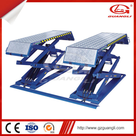 China Guangli Brand Ce Certification and Four Cylinder Hydraulic Lift Type Vehicle Scissor Lift 3000 for Sale pictures & photos
