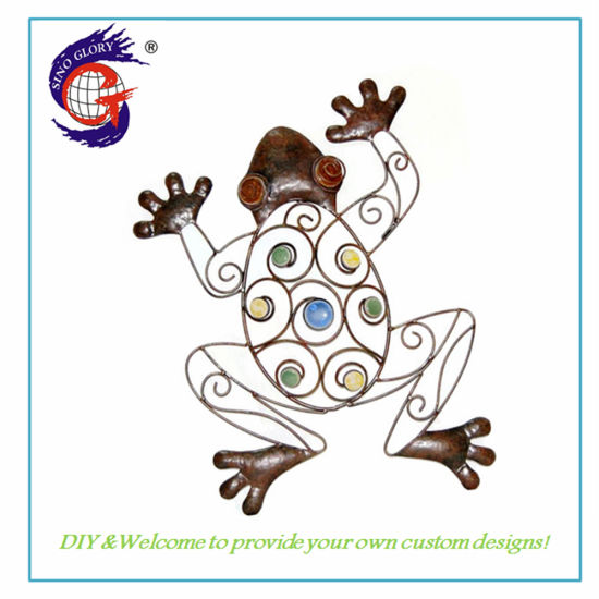 Indoor Wall Decoration Metal Hanging Frog Wall Hanging