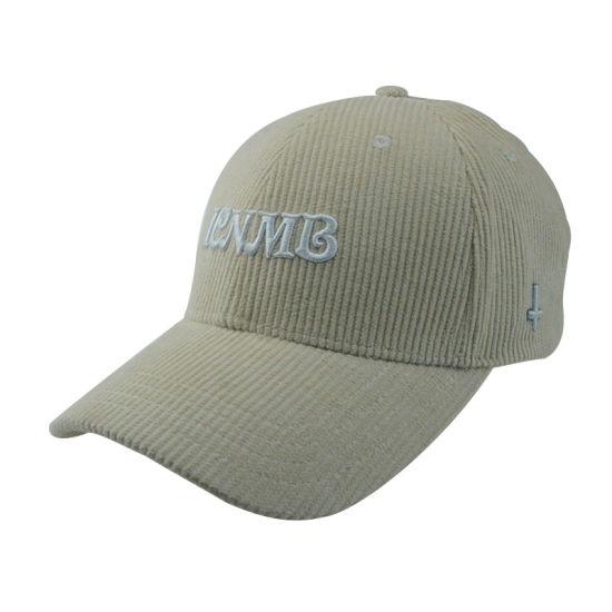 b754c98423a Custom Golf Cap Fashion Corduroy Sports Man Hat 6 Panels Baseball Cap