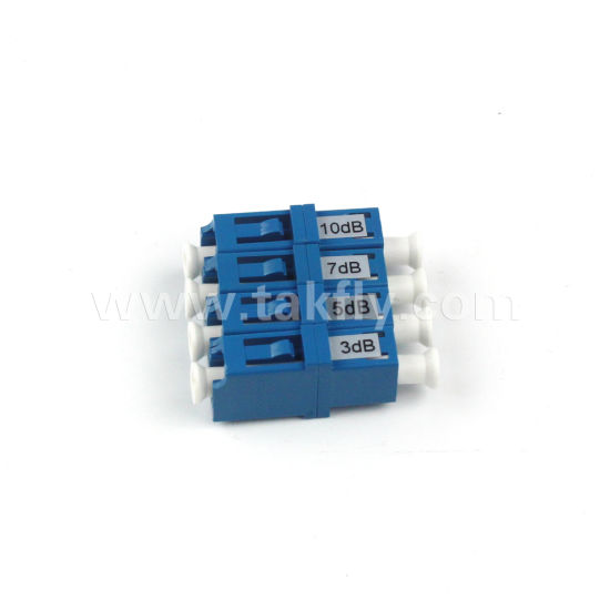 LC Upc Singlemode Fixed Fiber Optical Attenuator 5dB 10dB pictures & photos