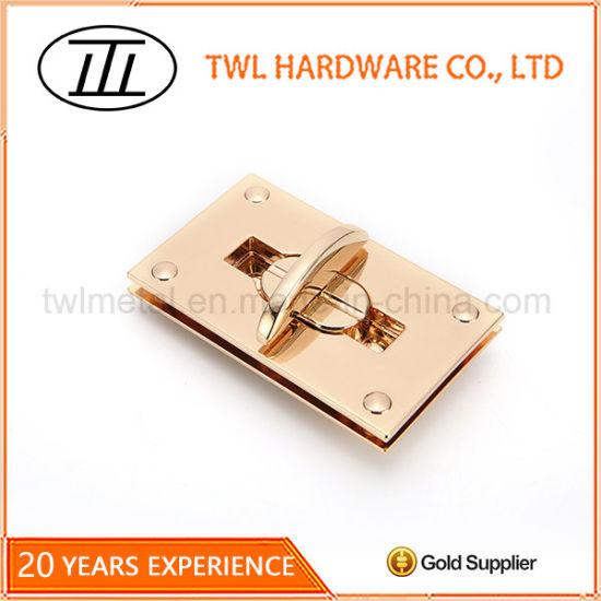Custom Handbag Hardware Whole Turn Lock For Leather Bag