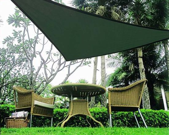 Triangle Polyester Netting Shade Sail pictures & photos