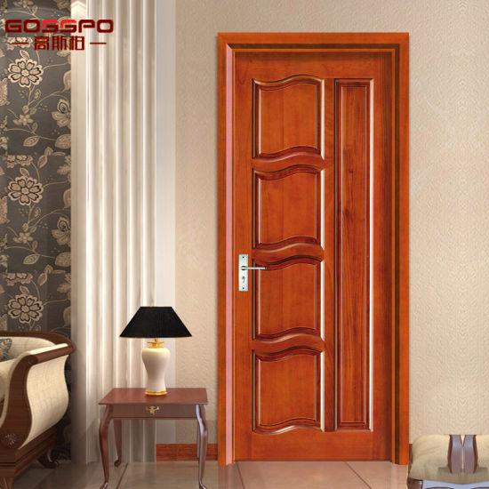 China Wood Panel Door Design Solid Wood Interior Door Gsp2 001