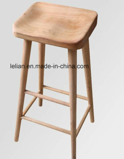 Commercial Oak Wood Bar Stool For Furniture Ll Bc060