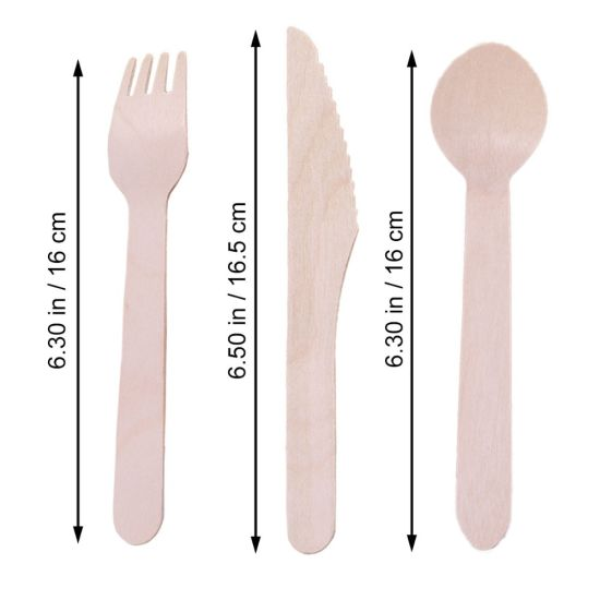 Disposable Wooden Teaspoons Eco Friendly Disposable Tableware pictures & photos