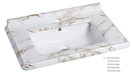 Sanitary Ware Newest Pattern Cabinet Wash Basin of Different Design pictures & photos