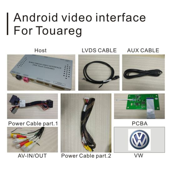 China 8 Inch Car Android GPS Navigation System for Touareg Rns850