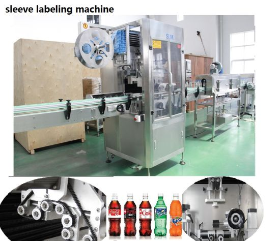 Automatic Shrink Bottle Can Sleeve Labeling Machine with Shrink Tunnel