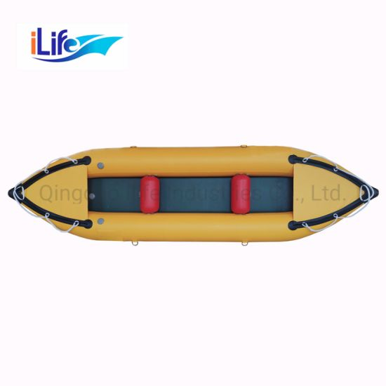 Ilife 3 8m Custormized PVC/Hypalon Inflatable Fishing Kayak for Sale
