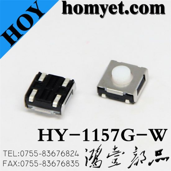 High Quality 4pin Micro Tactile Switch with Colorful Button (HY-1157G) pictures & photos