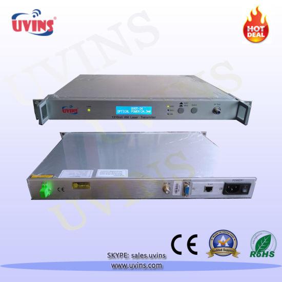 CATV Fiber 10dB/24MW/32MW 1310nm Optical Transmitter with Dual Power Supply