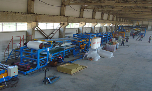 PLC Control System PU Formed Sectional Sandwich Panel Production Line