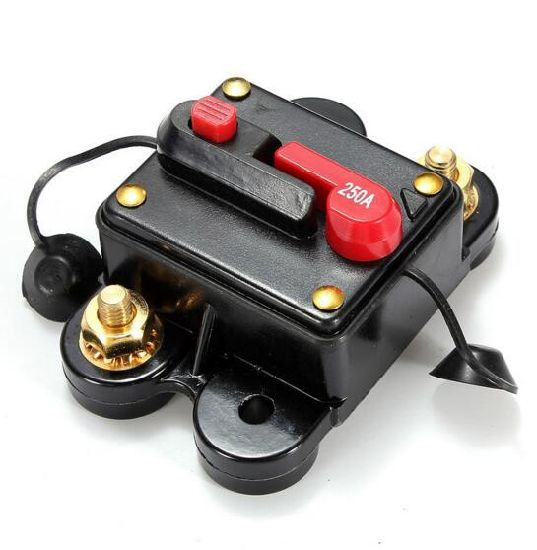 Car 12V 250A Automatic Recovery Switching Supplies Power Car Audio Fuse  Circuit Breaker Fuse Holder Insurance Block
