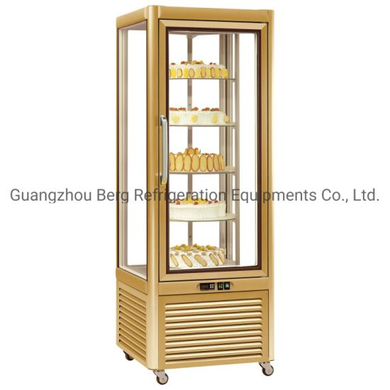 Wholesale Fan Cooling Refrigerated Rotating Cake Display Showcase