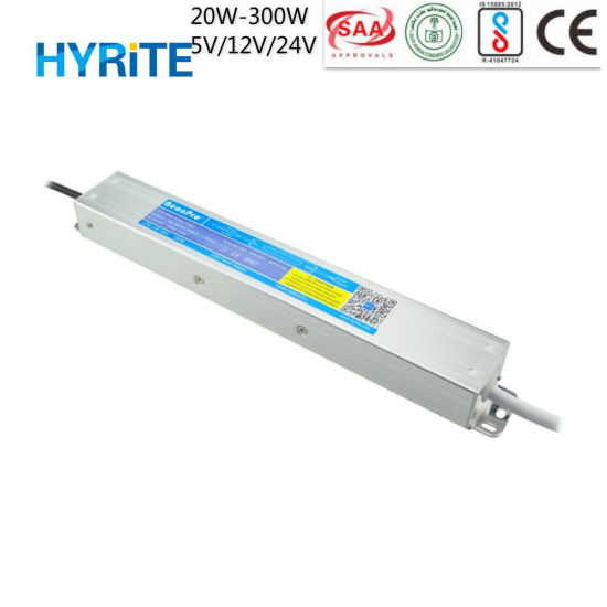 Outdoor Use IP67 12V 150W 12.5A Slim LED Power Supply