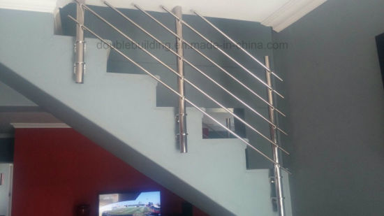 Concrete Stairs Stainless Steel Railing Design Side Mount Rail