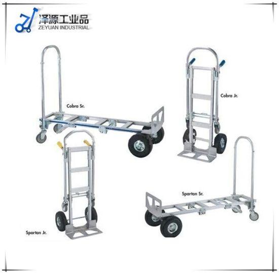 Factory 2in1 Heavy Duty Platform Hand Pallet Trucks Aluminum Foldable Trolley