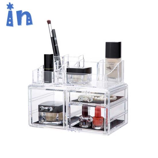 c894e0e0d7d9 China New Arrival 2 Pieces Acrylic Jewelry and Cosmetic Storage ...