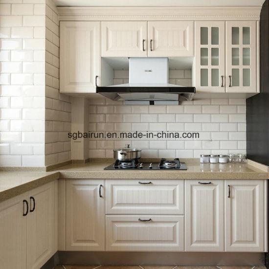 Pvc Kitchen Cabinet Doors: China Furniture Shaker American Style Melamine Board