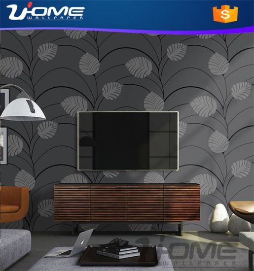 Uhome Stocklot or Vinyl Velvet Bamboo Wallpaper for Home Decals pictures & photos