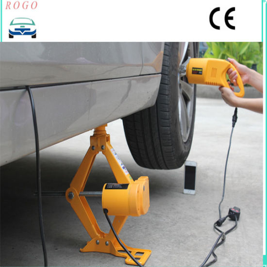 2.5 Tons Electric Scissor Lift Car Jack with Impact Wrench pictures & photos