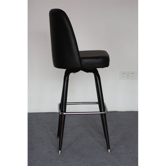 Black Faux Leather Salon Club Dining High Bar Chair (FS-T6059) pictures & photos