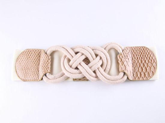 Customize Fashion Buckles Belts and Women Cotton Elastic Belt
