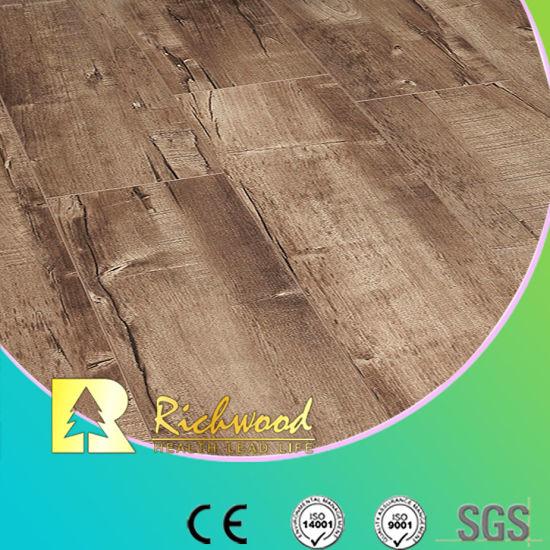 Vinyl Plank 12.3mm HDF Walnut Sound Absorbing Laminate Wood Flooring pictures & photos