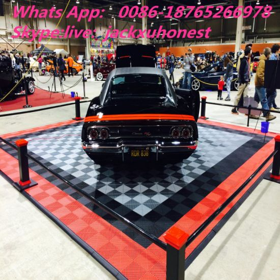 China Mm Garage Ribbed Slat Floor Covering China - Car show floor covering