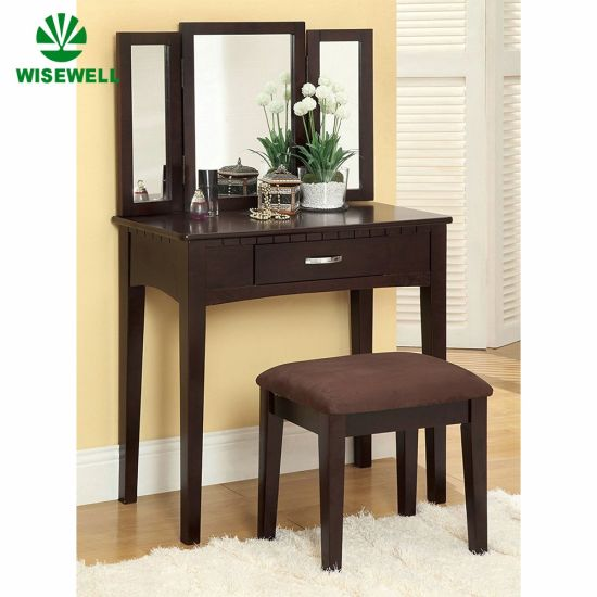 Black Mirrored Dressing Table with Drawers pictures & photos