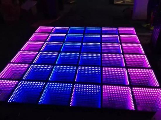 China Homei LED 3D Mirror Abyss Dance Floor Panel Tile - China Stage ...