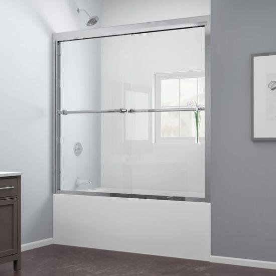 China Frameless Bypass Glass Sliding Tub Door China Extra Clear