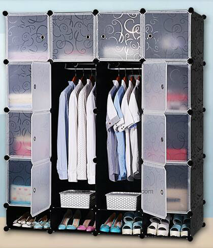 Living Room Wardrobe Cabinet Sale Plastic Wardrobe With Clothes Hanger Pole Cheap Folding Pp Panel Diy Bedroom Wardrobes Ep 03